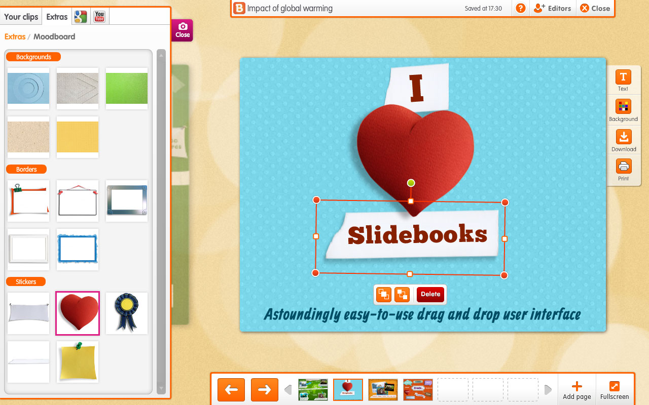 image shows slidebooks