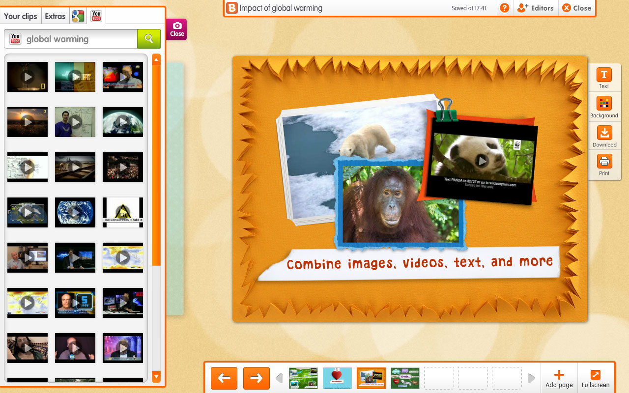 Image showing combining images, video, text and more