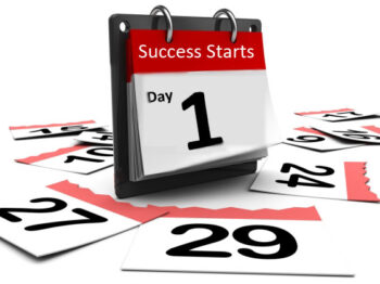 Calendar with success starts Day 1