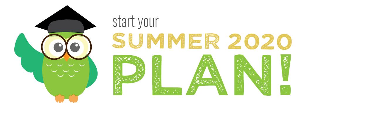 Summer 2020 Online Plan Banner.